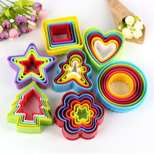 Cookie Cutter Sets Assorted Designs & Sizes Round Star Tree Heart Square Crinkle