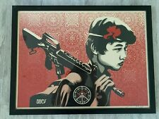 DUALITY OF HUMANITY 2 SCREEN PRINT SIGNED/NUMBERED  OBEY  SHEPARD FAIREY FRAMED