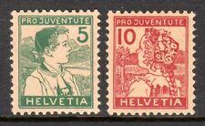 Switzerland - 1915 Pro Juventute / Folk Dresses -  Mi. 128-29 MH