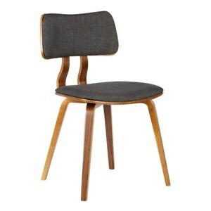 Armen Living Jaguar Dining Chair, Walnut/Charcoal - LCJASIWACH