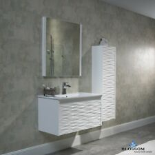 "BLOSSOM 24"" PARIS MODERN SINGLE SINK BATHROOM VANITY IN WHITE"