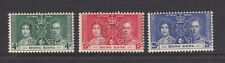 Hong Kong: 1937 George VI Coronation Perf Specimen SG137-139s-Unmounted mint