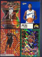 2019-20 PANINI SELECT CONCOURSE JOHN WALL /199 4 Card Lot Rookie Mosaic orange