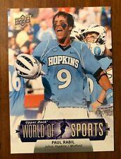 New listing Paul Rabil - Lacrosse - U.D. card - Johns Hopkins Blue Jays
