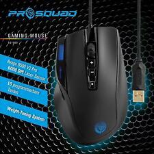ProSquad USB Gaming Maus 10 Tasten 6000dpi schwarz Computer PC LCD Display Licht