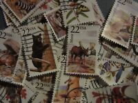 USA STAMP LOTS NORTH AMERICAN WILDLIFE SERIES USED SINGLES FULL SET CV $35.00