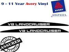 V8 LANDCRUISER Decal Sticker for Toyota 76 70 78 79 Series Bonnet Bulge