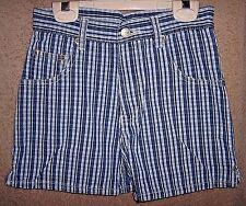 Comfy girls blue plaid Arizona jean shorts (sz 10) - GUC - LQQK