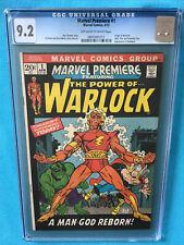 Marvel Premiere #1 CGC 9.2 (OW/W) Origin Of Adam Warlock BRONZE Picture Frame