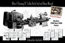 "Atlas/Clausing 12"" Lathe 5300-5400 Parts List and User Manual Schematics etc."