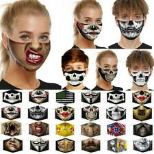 Washable Funny Mask0 Facemask Half Face Mouth Mark HipHop One Size Cospaly Party