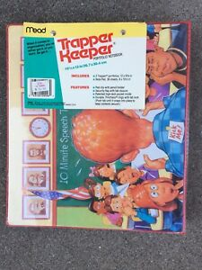 "Vintage Speech Classroom Nerd ""KICK ME"" Mead Trapper Keeper Binder 1992 1990's"