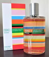 ESSENCE OF WOMAN UNITED COLORS OF BENETTON  3.3 OZ / 100 ML EDT SPY PERFUME HER