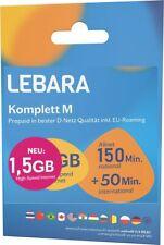 AKTIV LEBARA Deutsche SIM Karte 2GB Internet + 200min REGISTRIERT AKTIVIERT DE