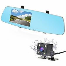 HD 1080P Dual Car Camera Video Recorder for Vehicles Front and Rear Mirror DVR