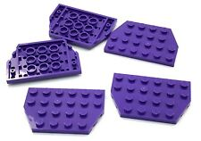 Lego 5 New Dark Purple Wedges Plate 4 x 6 Cut Corners Pieces