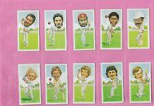 10X TEXACO 1984 CRICKETER CARDS