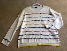 PS Paul Smith Cream & Multi Stripe Jumper Wool Size Medium