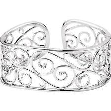 Diamond Cuff Bracelet In Sterling Silver (1/3 ct. tw