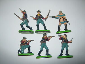 Britains Deetail cavalry foot soldiers 6 in all  6 poses mint cond unboxed.