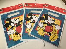 Party Express Disney Mickey Mouse Treat Sacks Set Of 3 - 24 Bags In All