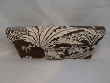 VERA BRADLEY Flip Top Cloth Case in Brown For Glasses 36mm Authentic Unused