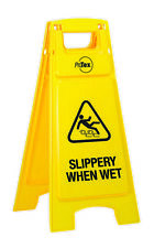 Slippery When Wet Plastic A-frame Sign Stand Safety Yellow Std39