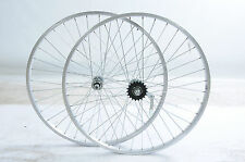 PAIR 26 x 1.75 (559) ALLOY WHEELS WITH PEDAL BACK BRAKE COASTER BRAKE REAR HUB