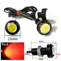 2x SMALL BLACK DOME LED BRAKE TAIL LIGHTS Red 12V  Eagle Eye Light Lamp Backup