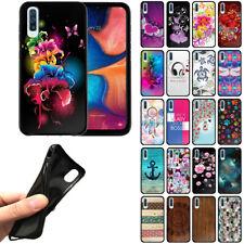 "For Samsung Galaxy A50 6.4"" 2019 TPU Black Silicone Soft Gel Skin Cover Case"
