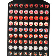 36Pair/Set Red Flamingo Resin Cabochon Earrings Stud For Women Girl Wholesale