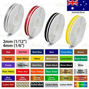 """1/2"""" PINSTRIPE Self Adhesive Pinstriping Double Lines TAPE Vinyl Sticker 12mm"""