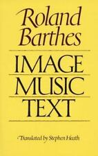 Image Music Text by Roland Barthes (1978, Paperback)