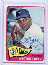 1965 TOPPS BASEBALL #532 HECTOR LOPEZ, AUTOGRAPH, NEW YORK YANKEES 010818
