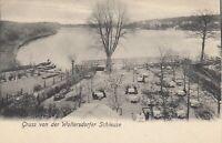 #859- AK Gruss von der Woltersdorfer Schleuse - um 1900 - ungelaufen