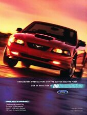 2002 Ford Mustang Convertible - Original Advertisement Print Art Car Ad J890
