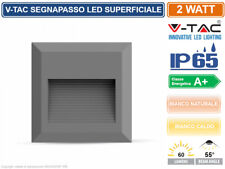 V-TAC VT-1152 FARETTO SEGNAPASSO LED QUADRATO 2W IP65 ESTERNO GRIGIO 1325 1324