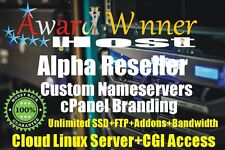 Alpha Reseller Hosting For 5 Year Unlimited CPANEL/WHM@£9.99 Master Account