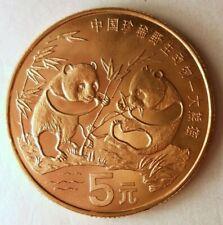 1993 CHINA 5 YUAN - Awesome Panda Coin - AU/UNC - Big Value - Lot #M20