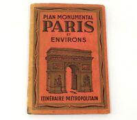 Plan Monumental Paris Und Environs Guide Monuments Inkl Karte Vintage Buch I692