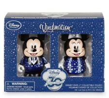 """DISNEY VINYLMATION 3"""" STORE 30TH ANNIVERSARY MICKEY MINNIE MOUSE COLLECTIBLE SET"""