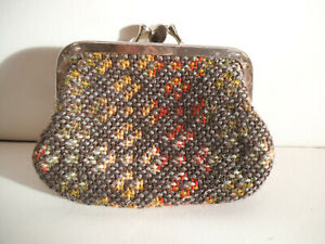 Small Vintage Welsh Tapestry Purse c. 1970s