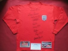 ENGLAND 9 HAND SIGNED 1966 WORLD CUP FINAL RETRO SHIRT- BALL - HURST PHOTO PROOF