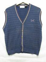 V5076 IZOD Cotton/Rayon Knit Blue Classic Vest Men's M