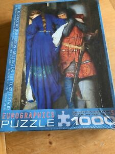 Meeting On The Turret Stairs F W Burton 1000 Piece Jigsaw New Sealed Medieval UK