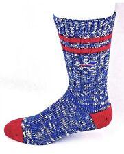 Buffalo Bills NFL Alpine Crew Socks Blue and Red Heel and Toe Logo Leg