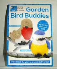rspb Giving Nature a Home Garden Bird Buddies Crochet Kit Robin Blue Titmouse