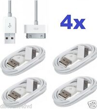 4x Charging USB lead Data charger cable for iPad iPod Touch iPhone 4 4S 3G 3GS
