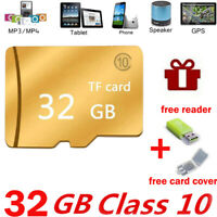 Micro SD Memory Card 32GB High Speed TF Class 10 SDXC SDHC Card+Cover&Reader