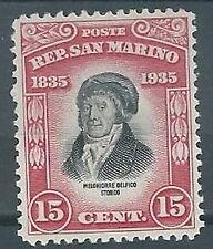 1935 SAN MARINO DELFICO 15 CENT MH * - RR2101